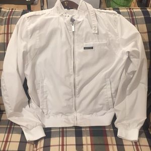 White members only bomber jacket size large used